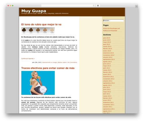 ProSense premium WordPress theme - muyguapa.net