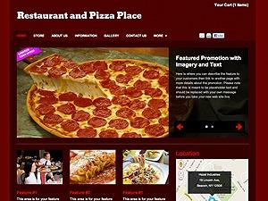 Restaurant & Pizza Place WordPress restaurant theme