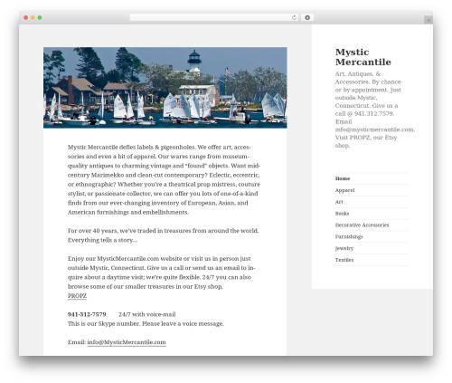 Theme WordPress 2015 Child Right Sidebar - mysticmercantile.com