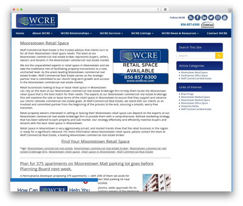 Theme WordPress VLM - moorestownretailspace.com