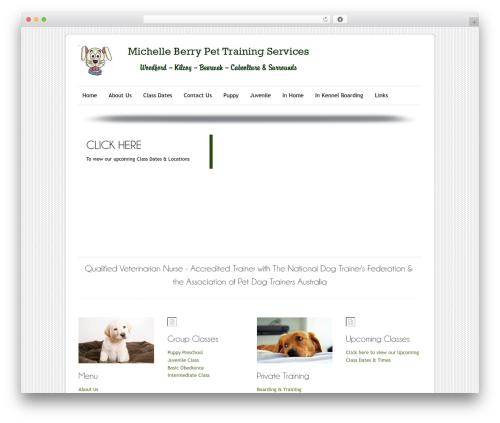 WordPress template ColorWay - michelleberrypettraining.com.au