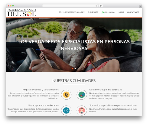 AccessPress Parallax WordPress theme - manejodelsol.com.mx