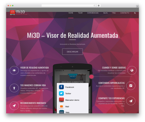 Applay top WordPress theme - mi3d.es