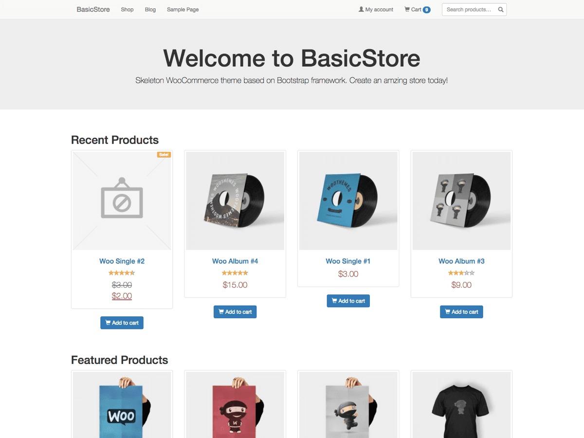 BasicStore best WooCommerce theme