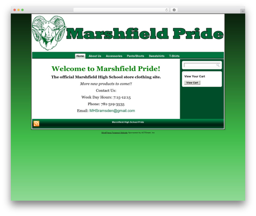 Best WordPress template Pride - marshfieldpride.com
