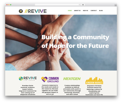 Charity Is Hope WordPress theme design - revivetomission.com