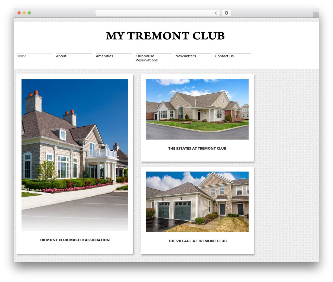 cherry WordPress page template - mytremontclub.com