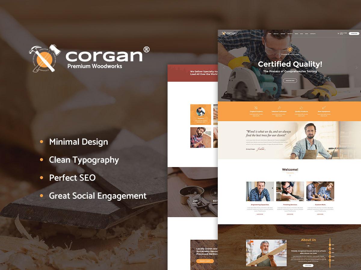 Corgan WordPress blog theme