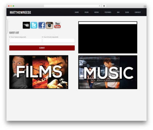 () Craft WordPress blog theme - matthewreese.com