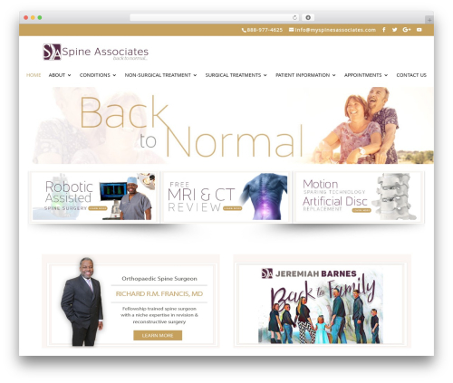 Divi template WordPress - myspineassociates.com