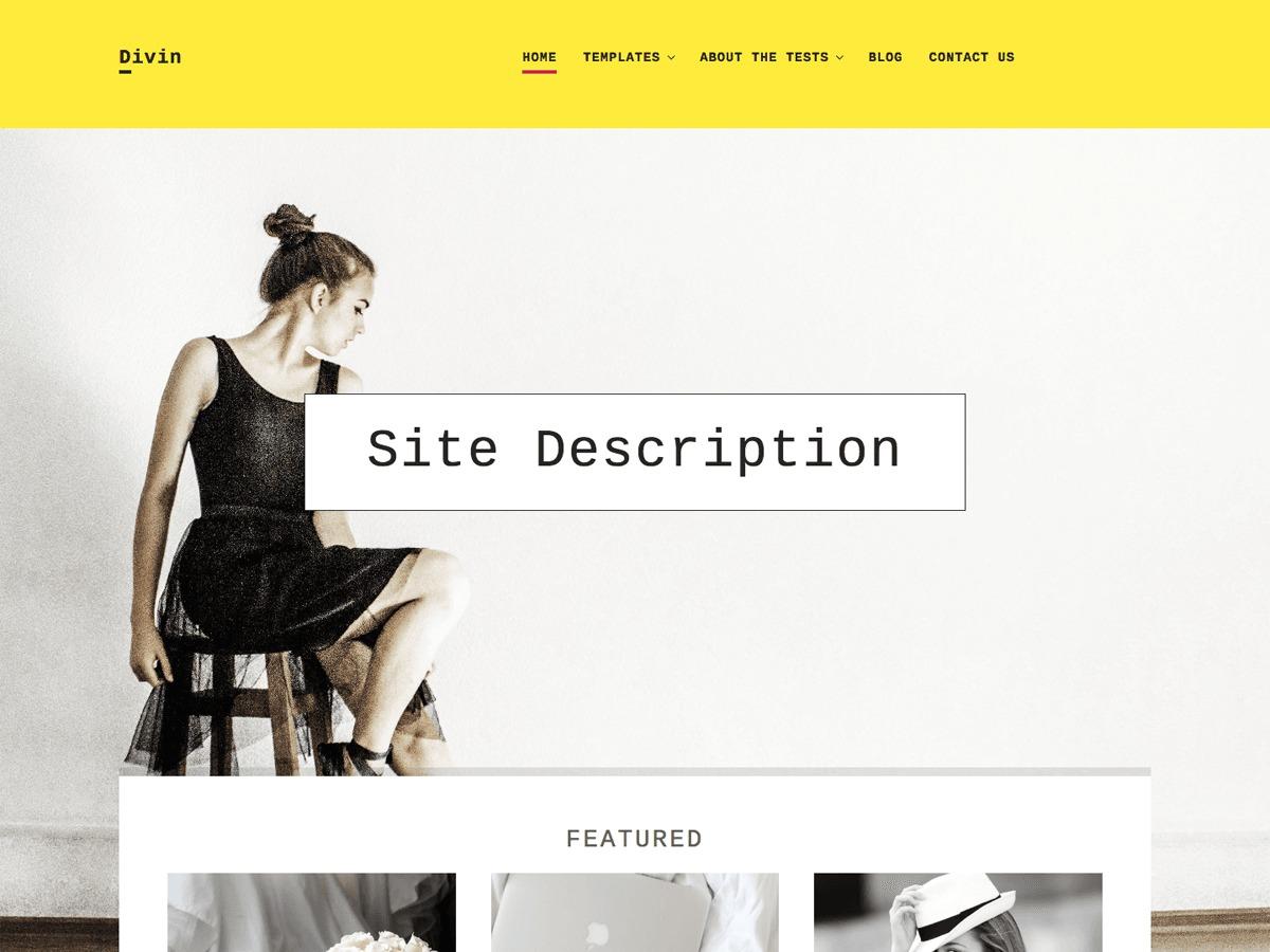 Divin WordPress blog template