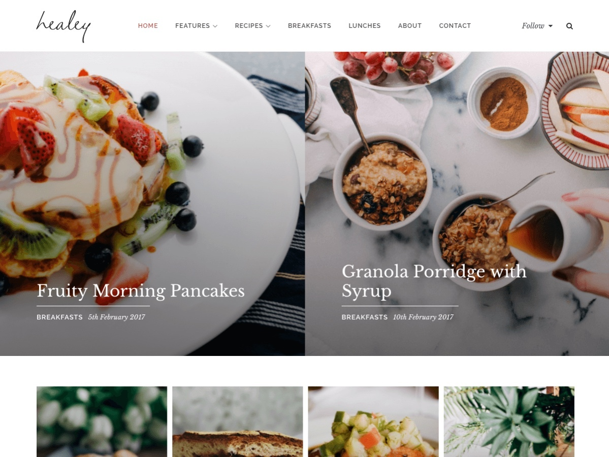 Healey WordPress blog template
