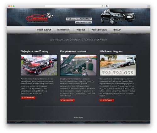 Radial Premium Theme WordPress page template - motomaxx.pl