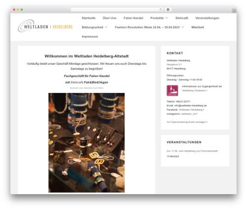 Responsive theme WordPress free - my.weltladen-heidelberg.de