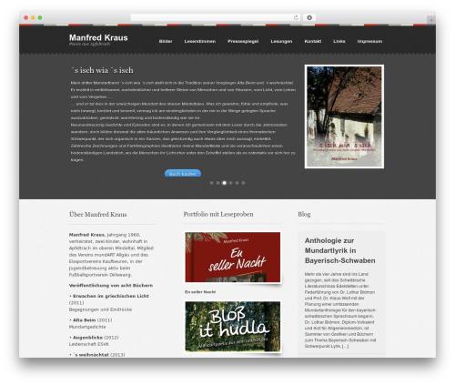 Swatch theme WordPress - manfred-kraus.com