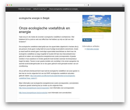Theme WordPress activetab - mijnecosysteem.be