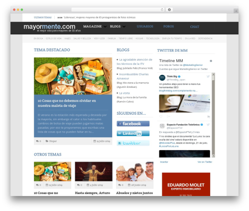 WordPress theme Reporter - mayormente.net