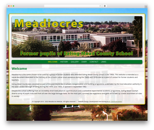 WordPress website template Meadiocres - meadiocres.co.uk