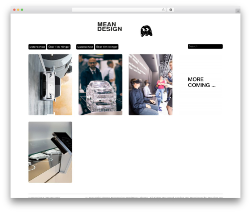 WP template Grid Theme Responsive - meandesign.com