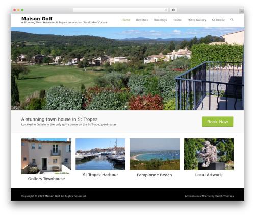 Adventurous free WordPress theme - maisongolf.com
