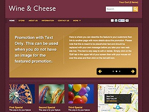 Color Collection: Wine & Cheese top WordPress theme