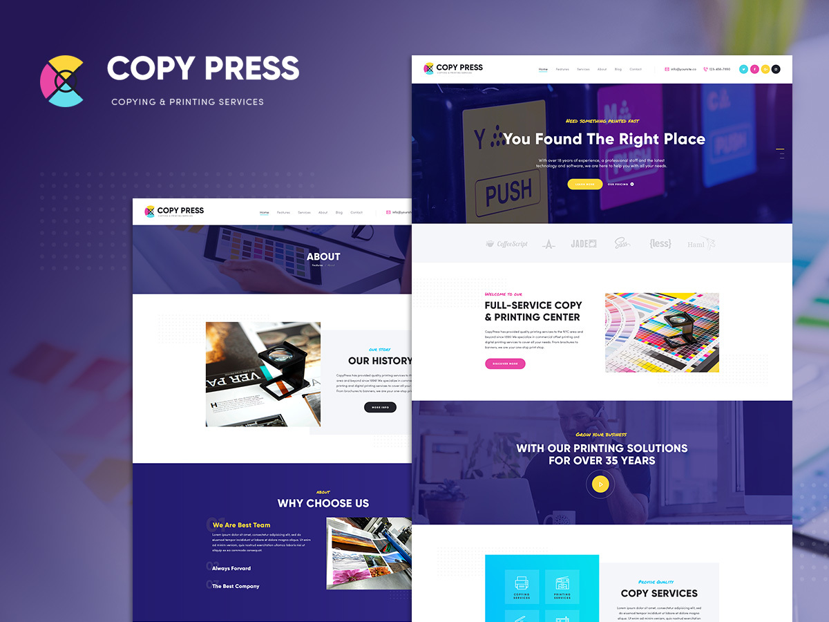 CopyPress WordPress blog template