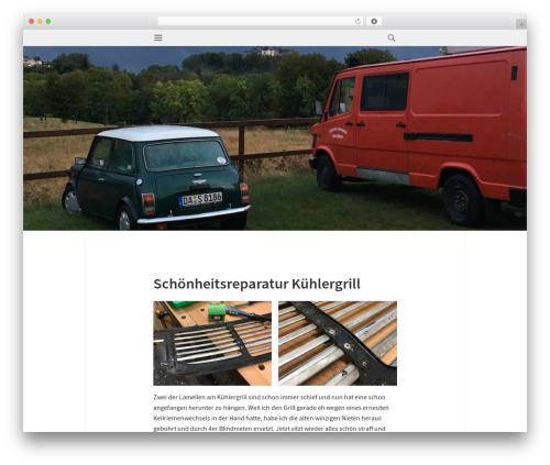Isola best free WordPress theme - minifrogs.de