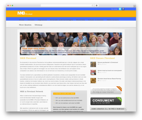 Modular WordPress theme - mkb-in-flevoland.nl