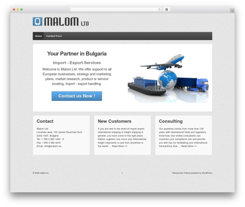 Responsive theme WordPress free - malom.eu