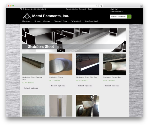 SaleJunction Pro WordPress theme - metalremnants.com/stainless-steel