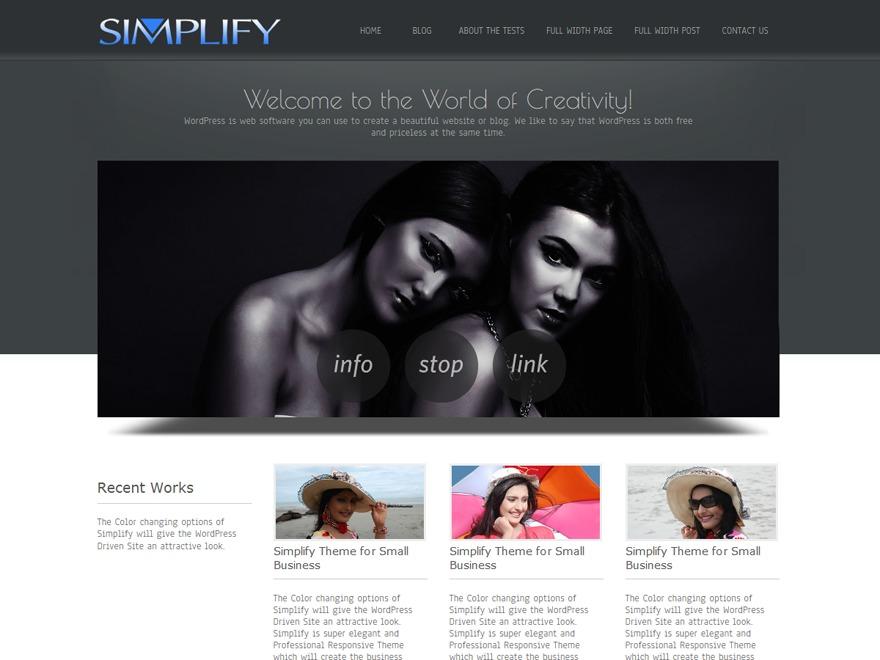 Simplify business WordPress theme