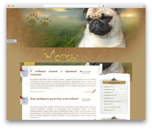 Theme WordPress Paper Wall - mops-dog.ru