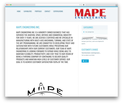 Trias WordPress theme - mapeengineering.com