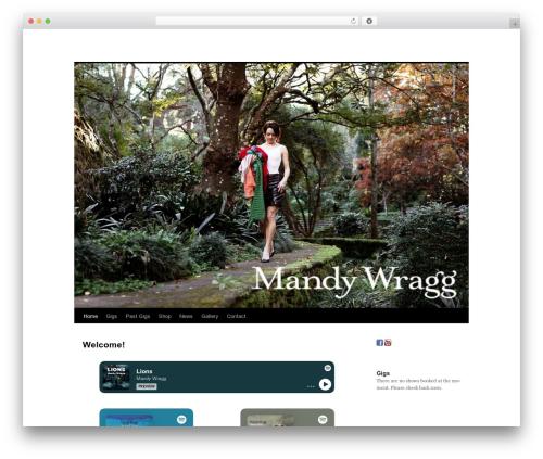 Twenty Ten template WordPress - mandywragg.com