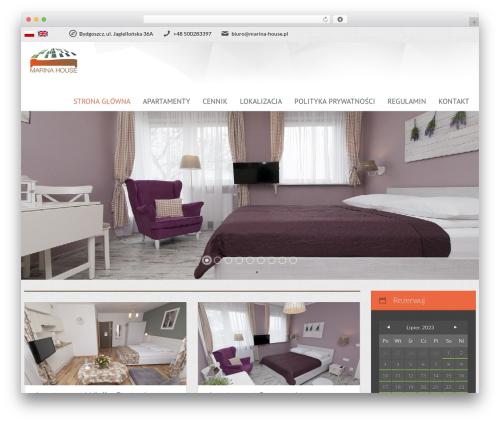 Viva Hotel WordPress theme - marina-house.pl