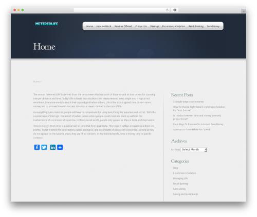 Webly best WordPress theme - meteredlife.org