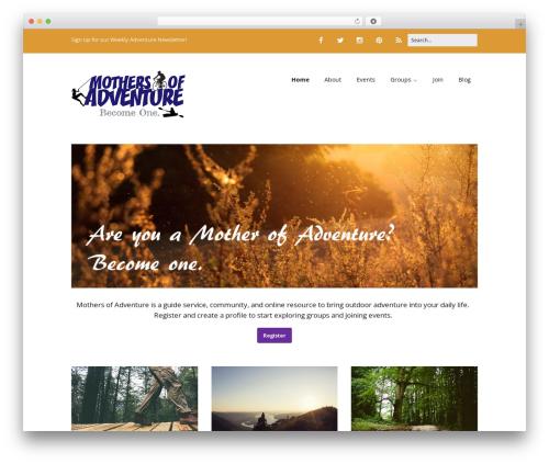 WordPress template Make - motherofadventure.com