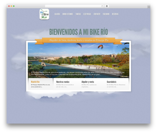 WordPress website template Sky - mibikerio.com