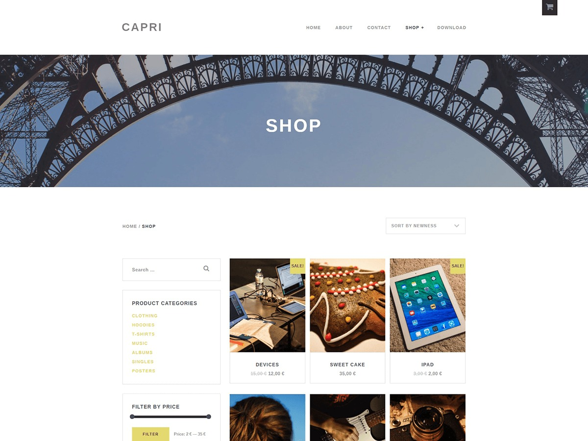 Capri Lite theme WordPress free