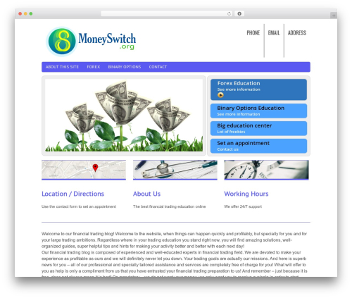 Chiro Pro free website theme - moneyswitch.org