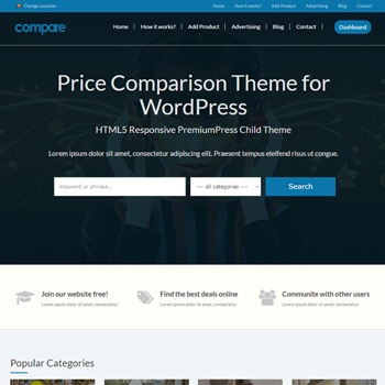 Compare Aug 2016 best WordPress theme