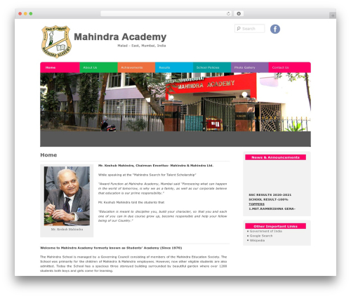 D5 Socialia template WordPress free - mahindraacademy.org