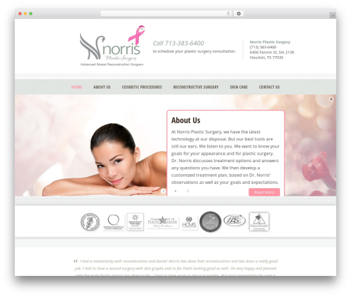 Dream Spa WordPress theme design - mybreastreconstructionoptions.com