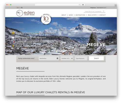 Eden WordPress template for business - megeve.edenluxuryhomes.com