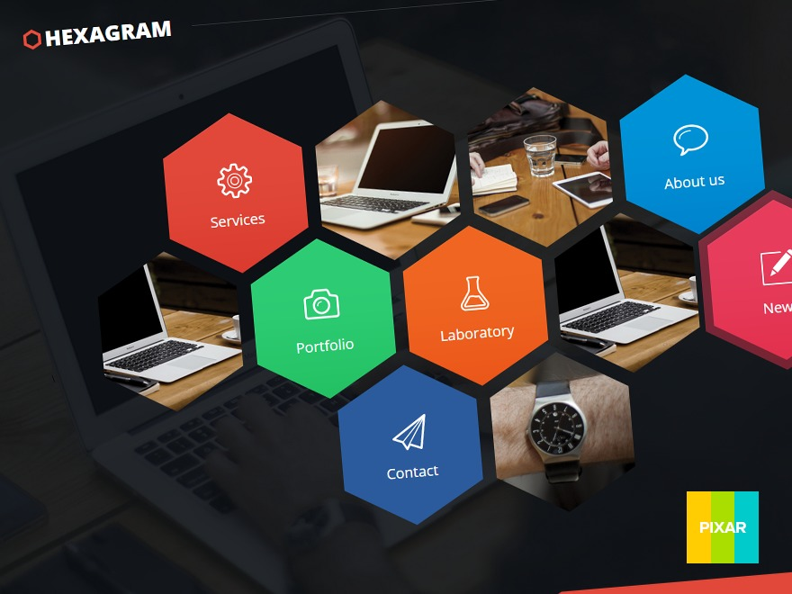 HEXAGRAM best WordPress template