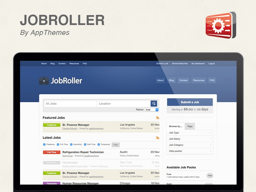 JobRoller WP template