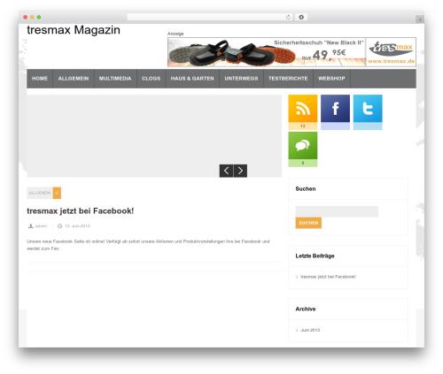 Magnovus WordPress template - magazin.tresmax.de