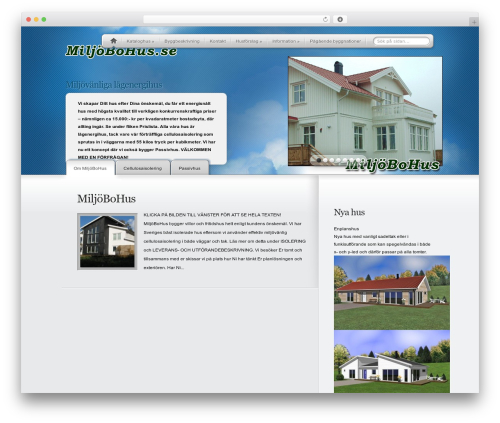 MyProduct WordPress theme design - miljobohus.se