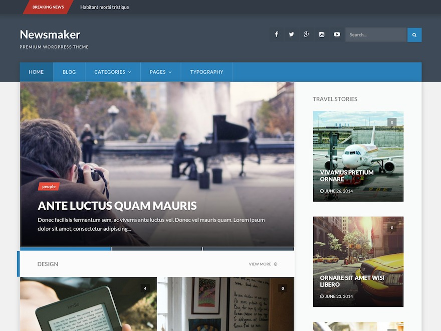 Newsmaker Child Theme WordPress news theme by Taras Dashkevych
