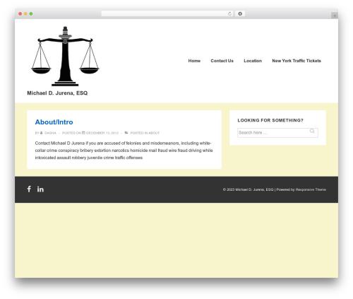 Responsive template WordPress free - mikejurena.com